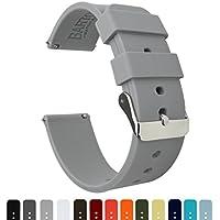 BARTON Silicone Quick Release - La gomma sottile Cinturini 22mm grigio