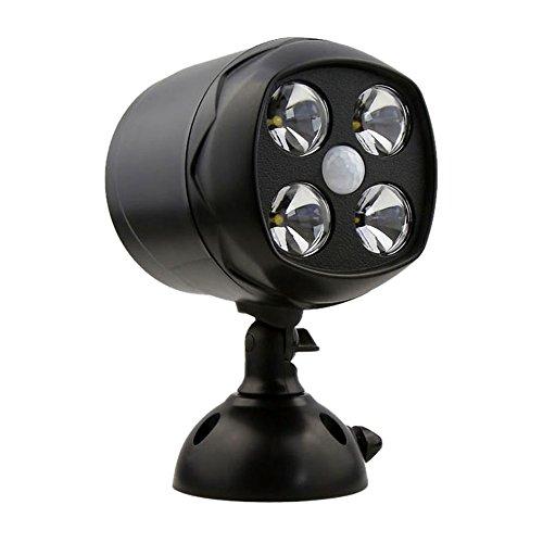 Goldfox® 4 LED 600Lumen Outdoor Wasserdicht Sicherheitslicht Flutlicht Bewegungsmelder Spotlight Garagenlampe Scheinwerfer Garagenleuchte Außenleuchte Wandleuchte Nachtlicht Gartenleuchte für Garten Garage