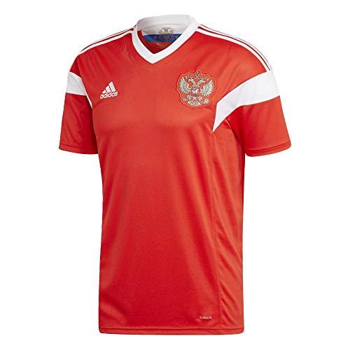 Adidas Rusia Camiseta de Equipación, Hombre, Rojo/Blanco, 3XL