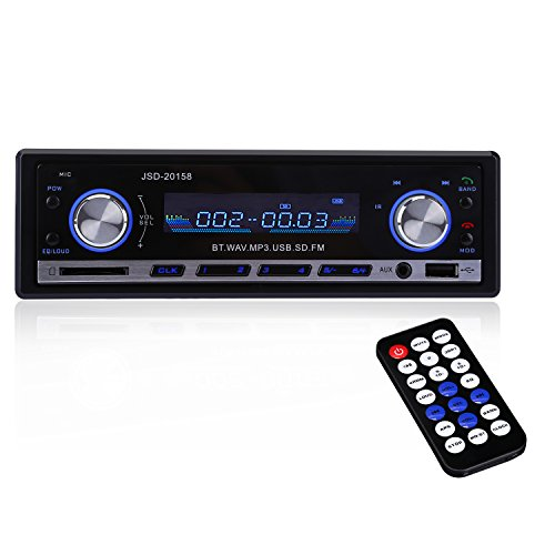 CAHAYA Auto Radio Autoradio mit Bluetooth Car Radio Audio USB / SD / MP3-Player mit Fernbedienung