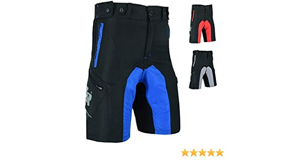Didoo MTB Cycling Shorts Men with Pockets Detachable Padded Breathable Lightweight YKK Zippers and Baggy Fit For Training Running Gym Fitness
