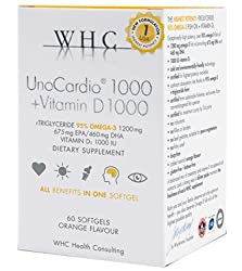 Unocardio 1000 + Vitamin D 1000, 60 Softgels