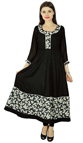 Phagun Kurta Frauen Ethnischen Designer Blumen Rayon Lässig Kurti Tunika-Kleid (Damen Designer-tunika)