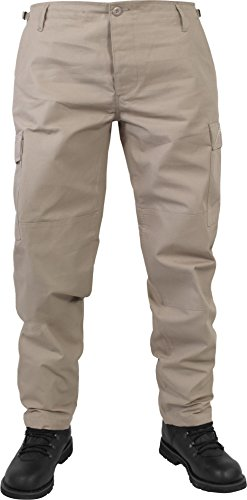US Herren BDU Feldhose aus robustem Ripstop Material Farbe Khaki Größe XXL (Baumwoll-ripstop-hose)