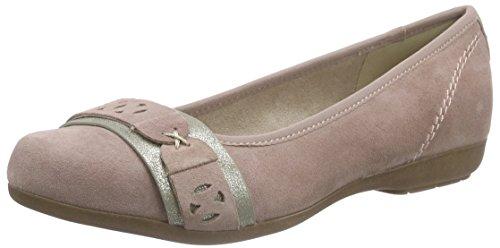 Jana Damen 22104 Geschlossene Ballerinas Pink (BEGONIA 535)