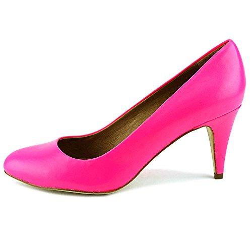 Nina Kellyanne Cuir Talons Pink Fluo