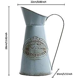 Esta.east Antiguo Jarrón De Estilo Rústico, Artesanías En Hierro Cronológico, Arreglos Florales