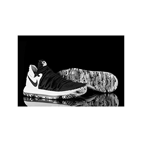 Nike Herren Zoom Kd10 Basketballschuhe Schwarz (Black/White)