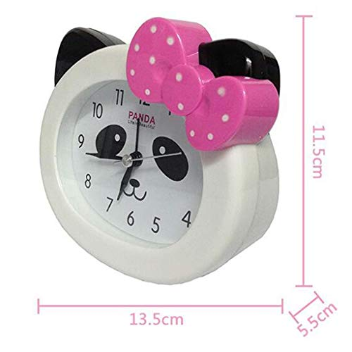 Lovely Kitty Model Reloj Despertador Multifuncional 11.5 * 13.5CM (Color: Rojo) (Color : Red)
