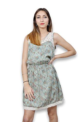 Robe femme sans manche LAVAND - Robe femme taille L imprimée liberty Vert