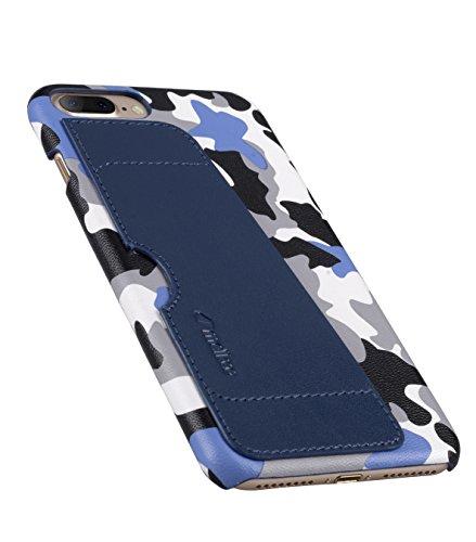 Apple Iphone 7 Melkco Elite-Serie Premium Leder-Snap zurück Tasche Tasche mit Premium-Leder Handgefertigte gute Schutz, Premium Feel-Tan Dunkelblau 13