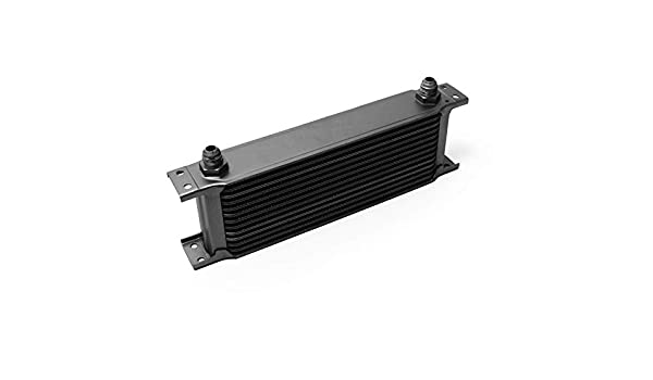 Wiltec Radiatore Nero dellolio Universale Alluminio 10 File Alette per Raffreddamento Olio Motore
