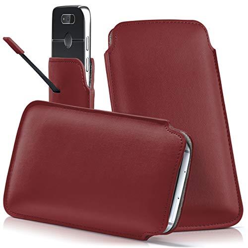moex Emporia Flip Basic | Hülle Rot Sleeve Slide Cover Ultra-Slim Schutzhülle Dünn Handyhülle für Emporia Flip Basic Case Full Body Handytasche Kunst-Leder Tasche