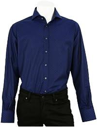 OTTO KERN Hemd in Blau mit eingewebtem Muster, 44