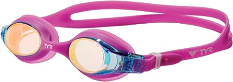 TYR Kids Swimple Metallized Swimming Goggles - Berry Fizz