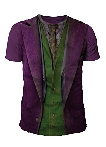 DC Comics - Batman Arkham City Herren T-Shirt - Joker Suits (Multicolor) (S-XL) (XL) (Batman Arkham City Shirt)