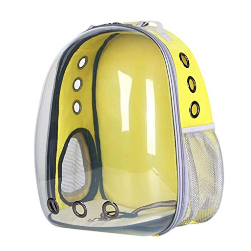Borsa da Viaggio Easy To Go out Borsa da Viaggio per Gatto con Zaino Grande capacità 32 x 28 x 44 cm XMUEI (Color : Yellow)