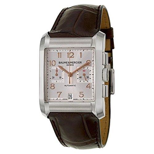 Baume & Mercier Hampton automatico argento quadrante orologio da uomo 10029
