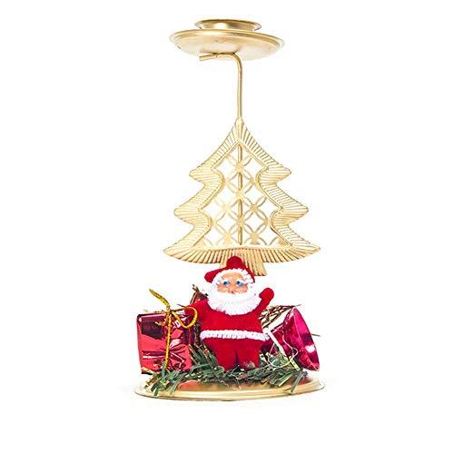 Energeti Navidad Candelabro Hierro Adorno Vela Navidad