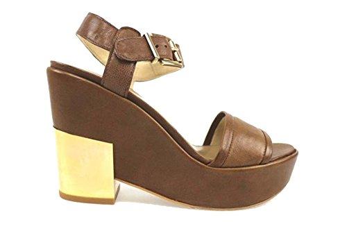 scarpe donna STUART WEITZMAN sandali marrone pelle AP819 (39 EU)