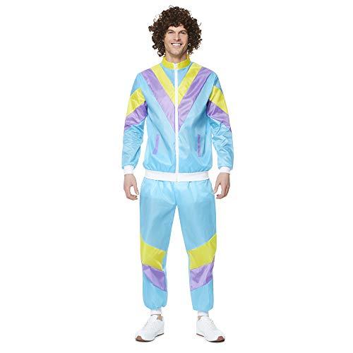 Kostüm Jimmy - Karnival 822451980Stecker Shell Suit Kostüm, Herren, Multi, extra groß