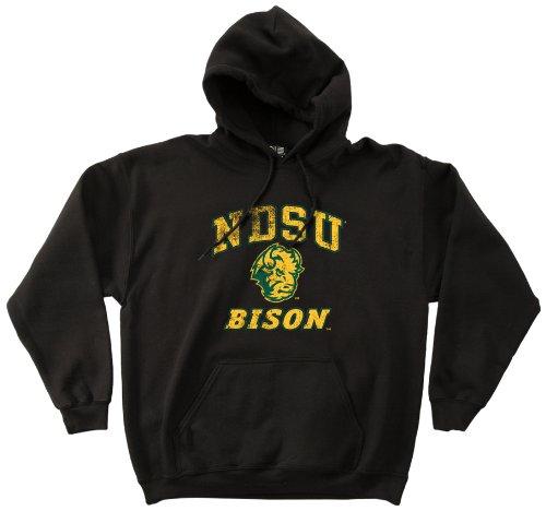 NCAA North Dakota State Bison 50/50Blended 230ml Maskottchen Vintage Hooded Sweatshirt, Herren, schwarz