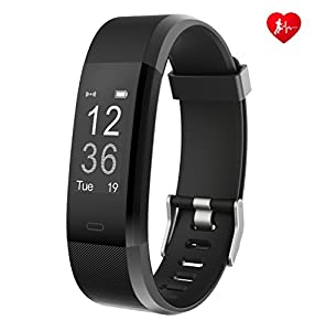 Fitness Tracker Arbily YG3PLUS Heart Rate Monitor Smart Bracelet Activity Tracker Sport Pedometer with Waterproof/Call Message/Sleep Monitor/Control Camera/Calorie/Sedentary Alert for Android and iOS