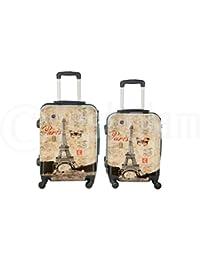 Maleta cabina 50 y 55 cm 4 ruedas trolley cascara dura adecuadas para vuelos de bajo coste art torre