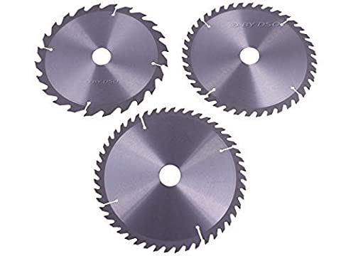 Professional 3 pce TCT Circular Saw Blades 205mm with 30mm