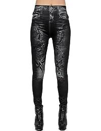 Ninimour Pantalones Elásticos Denim Leggings para Mujer