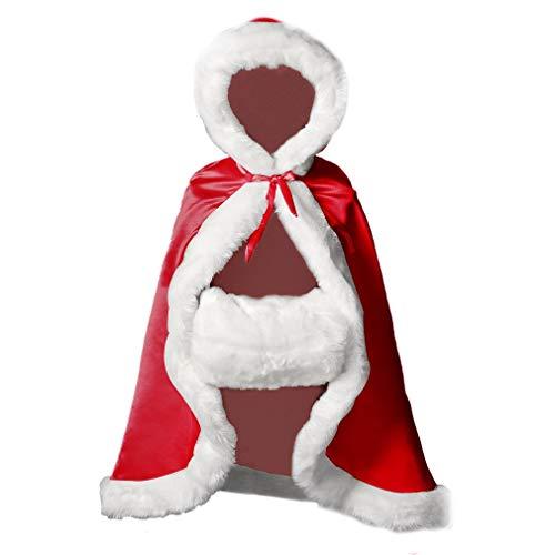 BEAUTELICATE Capa Niña con Capucha Pelo Abrigo Largo para Invierno Niño Disfraces Boda Fiesta Navidad...