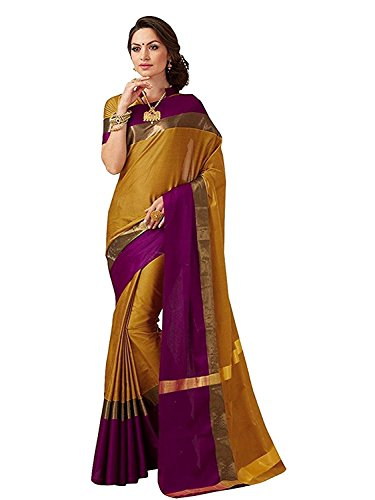 SAREE MALL Women\'s Art Silk Saree Combo (Yellow Mustard)
