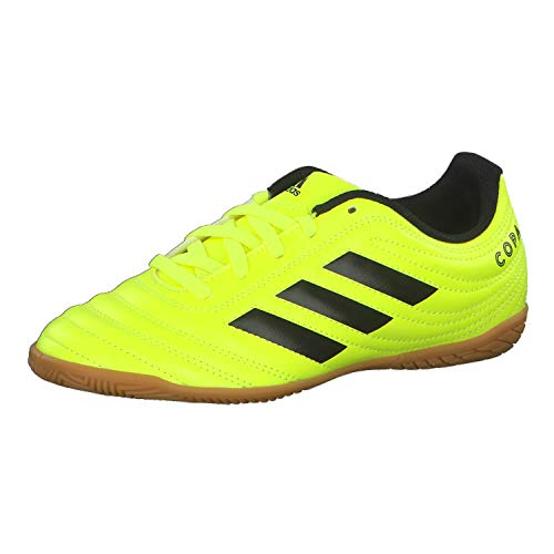 adidas Unisex-Kinder Copa 19.4 In J Fußballschuhe, Mehrfarbig Core Black/Solar Yellow 000, 33 EU