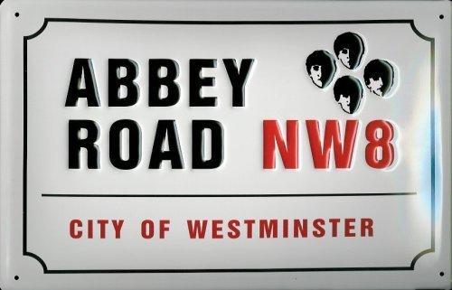 Abbey Road NW8 Targa latta Tin Sign visiera metallo 20 x 30 cm