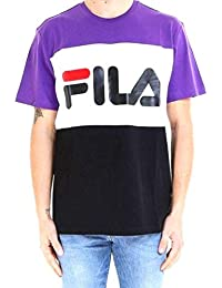 133322d0673d FILA. T-Shirt Uomo cod.681244 Viola Bianco Nero Size