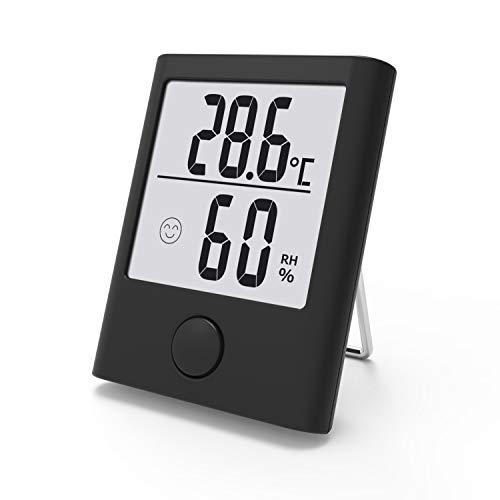 BALDR B0341 Hygrometer Innen, Digital Tragbares Thermometer Hygrometer Innen/Ausen Raumthermometer Hydrometer Feuchtigkeit mit hohen Genauigkeit, Komfortanzeige für Babyraum, Wohnzimmer, Büro, usw