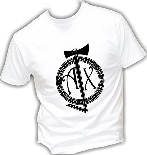 T-shirt cotone BASIC super vestibilità top qualità - J-AX ACCADEMIA DELLE NOCCHE DURE music rap divertenti humor MADE IN ITALY Bianco