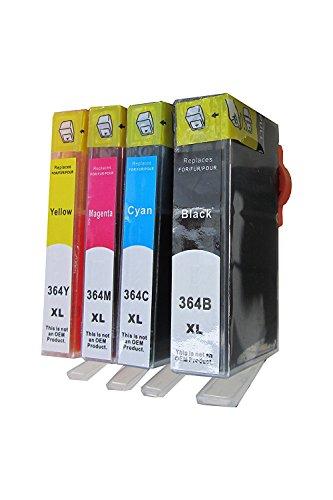 ESMOnline 4 komp. XL Druckerpatronen Ersatz für HP 364XL Photosmart 5510 5515 5520 5522 5524 5525 6510 6520 6525 7510 7520 / HP Deskjet 3070A 3070 3520