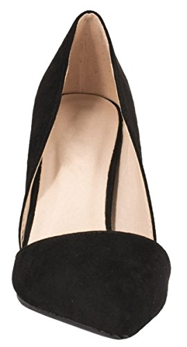 Elara Damen Pumps | Spitze Stiletto High Heels | Moderne Pumps Schwarz