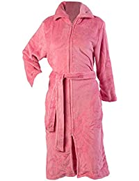 Slenderella Ladies Luxurious Soft Fleece Dressing Gown Zip Up with Pockets  Sizes cc92756c4