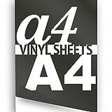 Schwarz matt, A4 (297 x 210 mm), 1 x Hochwertige, selbstklebende Vinylfolie A4Vinyl Selbstklebende Vinylfolien