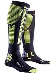 X-Socks calcetines Precuperation función, primavera/verano, unisex, color Varios colores - Black/Acid Green, tamaño 39/42 M