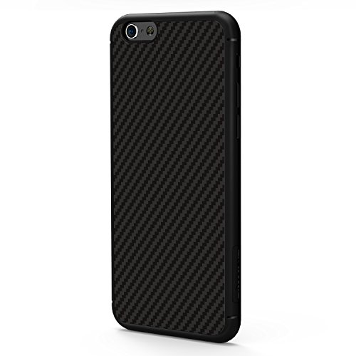 Meimeiwu Carbon Fiber Custodia Protective Case Cover per iPhone 7 Nero Nero