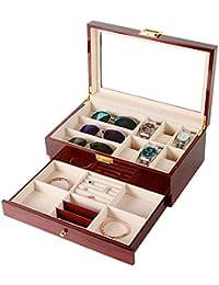 Storage Box Caja de Almacenamiento de Reloj, 6 Cajas de Relojes + 3 Cajas de