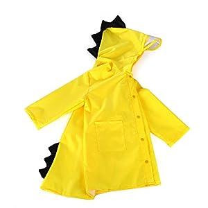 Rowentauk Kinder Regenmantel Anzug Wasserdicht Regen Cape Wear Cute Cartoon Dinosaurier Outdoor Regen Mantel Jacke für Jungen Mädchen