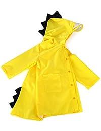 Zmigrapddn Cartoon Raincoat Blau Cute Big Ear Waterproof Kids Raincoat Packable Childrens Hooded Poncho Cloak Size S