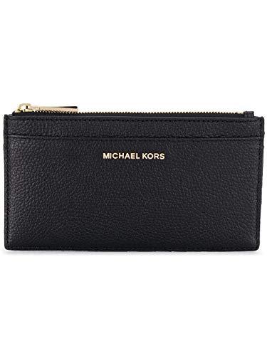Michael By Michael Kors Portacarte Donna 32S8gf6d7l001 Pelle Nero