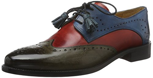 Melvin & HamiltonBetty 3 - Scarpe stringate Donna , Multicolore (Mehrfarbig (Crust Dk.Grey, Red, Mid-Blue/LS)), 38