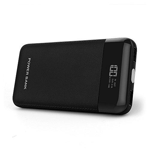 DINTO Batterie Externe 10000mAh Chargeur Portable Power Bank Batterie de Secours Chargeur de Voyage avec écran LED pour iPhone X 8 7 7 Plus, iPad, Samsung, Smartphone Android, Tablette
