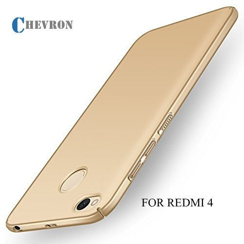For XiaoMi RedMi 4 [May 2017 Release] All Side 360 Degree Protection Sleek Hard Back Cover Case For RedMi 4 - Lux Gold